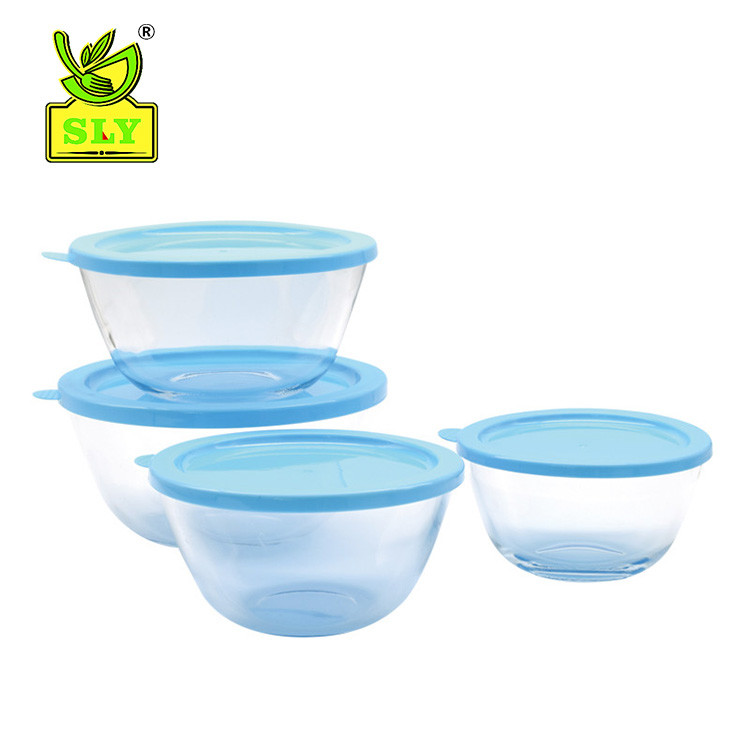 Glass Mixing Bowl Set Including Lids