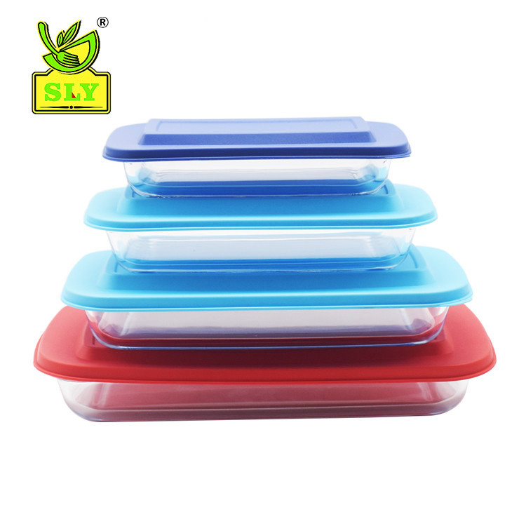 4 sets of rectangular baking tray with cover