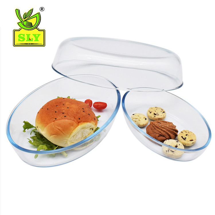 3 pieces oval baking tray set